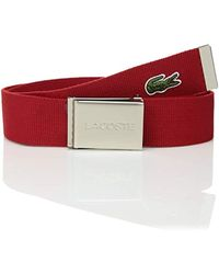 4c4741d70babd6 Lyst - Lacoste Classic Logo Embossed Buckle Belt (brown) Men s Belts ...