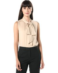Theory Tie Scarf Top - Natural
