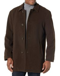 Cole Haan Wool Cashmere Button Front Topper - Brown