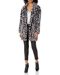 Steve Madden Faux Fur Fashion Jacket - Black