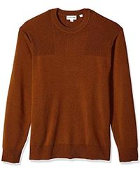 c6262c772b47ad Lacoste - Long Sleeve Motion Wool Crew Neck Sweater - Lyst