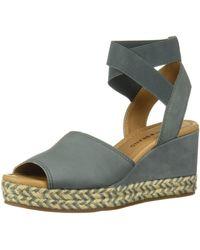 Lucky Brand Bettanie Espadrille Wedge Sandal - Gray