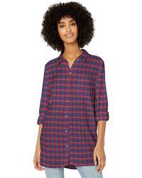 Goodthreads Modal Twill Long-Sleeve Button-Front Shirt Dress-Shirts - Viola