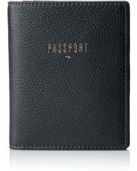 Fossil Passport Leather Rfid Passport Case Wallet - Black