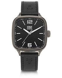 Frye Stainless Steel Japanese Quartz Leather Strap, Black, 20 Casual Watch (model: Fr00002-02)