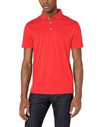 Calvin Klein - Mensliquid Cotton Polo Shirt Spread Short Sleeve Shirt - Lyst