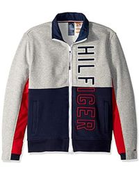 Tommy Hilfiger Charcoal Grey Tape Bomber Jacket in Gray for Men - Lyst