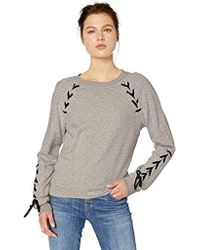 Jessica Simpson Kiana Lace Up Sweatshirt - Gray
