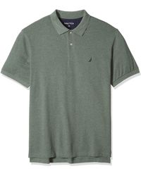 Nautica Tall Short Sleeve Solid Deck Polo Shirt - Green