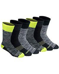 Moss Dickies Men/'s Medium Weight Marled Accent Moisture Control Crew Socks