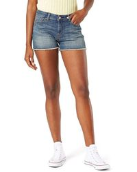 Signature by Levi Strauss & Co. Gold Label Mid-rise Cut Off Shorts - Blue