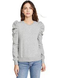 Rebecca Minkoff Janine Ruffle Sleeve Sweatshirt - Gray