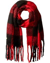 Betsey Johnson - S Checked Out Blanket Wrap - Lyst