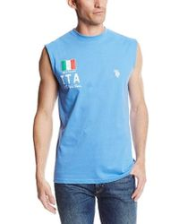 U.S. POLO ASSN. - Italy Flag Muscle T-shirt - Lyst