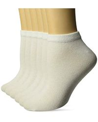 Amazon Essentials 6-pack Casual Low-cut Socks - White