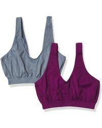 Bali Cool Comfort Revolution Crop Top 2-pack Shirt Underwear - Purple