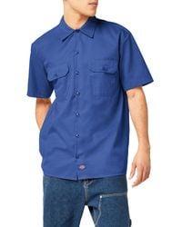 Dickies Shirts Short Sleeve Work Shirt - Blue
