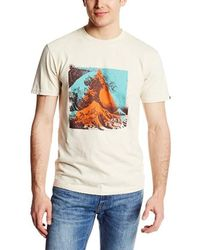 Hurley Rubber Strands Coves Mens Navy T-shirt in Blue for
