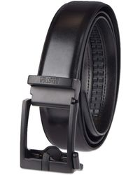 Kenneth Cole Reaction Perfect Fit Adjustable Belt With Track Lock - Black