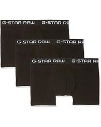 G-Star RAW Classic Trunk 3 Pack Men's Boxer Shorts In Black
