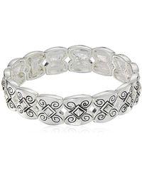 Napier - Silver-tone With Light Antique Stretch Bracelet - Lyst