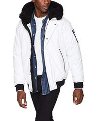 Sean John Hooded Bomber Jacket - White