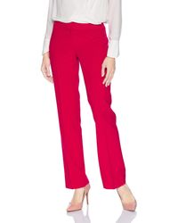 Nine West Solid Stretch Pant - Red