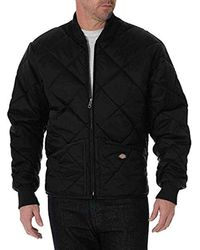 Dickies Diamond Quilted Nylon Jacket Big-tall - Black