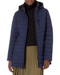Nautica 3/4 Length Lightweight Stretch Jacket - Blue