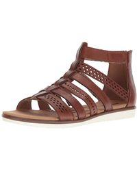 26728498aa Lyst - Clarks Kele Lotus Strappy Leather Sandals in Metallic