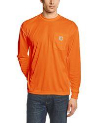 Carhartt High Visibility Force Color Enhanced Long Sleeve Tee,brite Orange,large