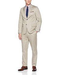 Ben Sherman - Solid Tan Stretch Cotton Suit - Lyst