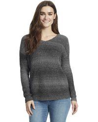 William Rast Lainey Twist Back Sweater - Gray