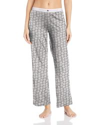 Tommy Hilfiger Plus Size Logo Bottom Lounge Pajama Pant Pj - Gray