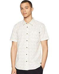 O'neill Sportswear - Modern Fit Short Sleeve Woven Party Shirt - Lyst