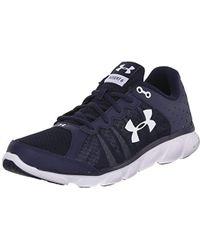 b088501947 Lyst - Under Armour Boys  Pre School Assert 6 Running Shoe in Blue ...
