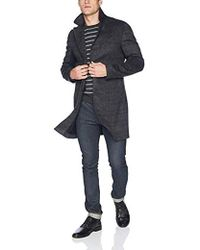 Billy Reid Cashmere Single Breasted Walking Coat With Leather Details - Gray