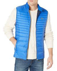 Lacoste S Sport Padded Golf Vest Jacket - Blue