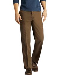 Lee Men/'s Weekend Chino Straight Fit Flat Front Pant  WALNUT NWT