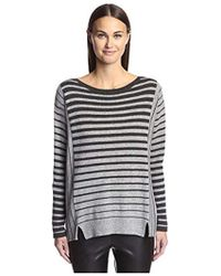James & Erin - Cashmere Striped Boat Neck Sweater - Lyst