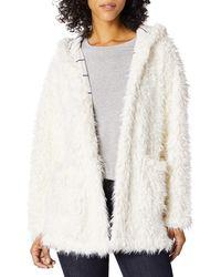 Splendid Plus Size Hooded Teddy Jacket Soft Bathrobe Warm Lounge Pajama Robe Pj - White
