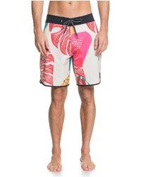 Quiksilver Highline 19 Inch Outseam Stretch Boardshort Swim Trunk - Multicolor