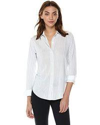 Theory - Long Sleeve Essential Buttondown Shirt - Lyst