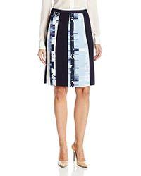 Ellen Tracy - Slight A-line Seamed Skirt, - Lyst
