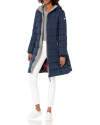 Tommy Hilfiger Hooded And Quilted Heritage Puffer - Blue