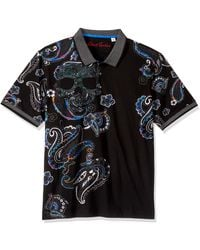Robert Graham Skull Island S/s Knit Polo - Black