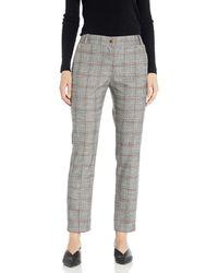 Calvin Klein Plaid Novelty Pant - Gray