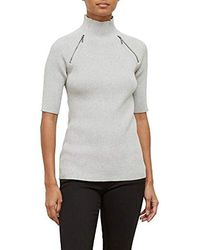 Kenneth Cole - Elbow Sleeve Mock Sweater - Lyst