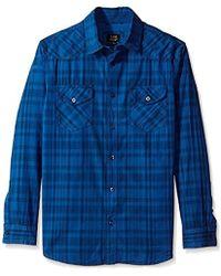 Lee Jeans L/sve Button Down Shirt - Blue