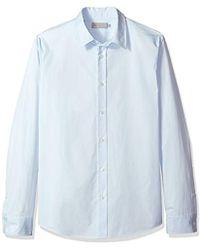 588d3ce35fc Lyst - Vince Denim 1 2 Placket Pullover Shirt in Blue for Men